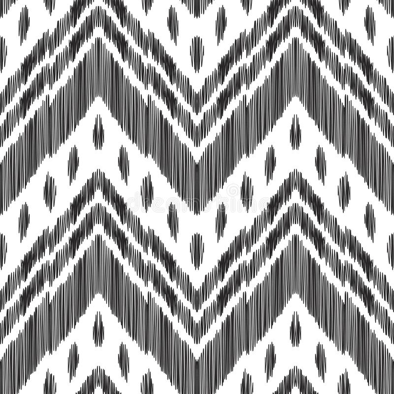 Abstracte chevronachtergrond Ikat naadloos patroon vector illustratie