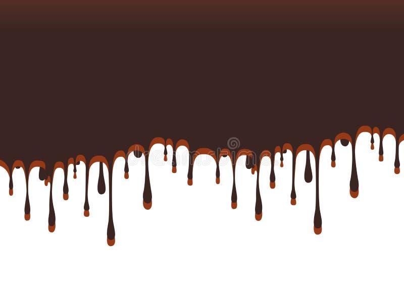 Abstracte chocoladeachtergrond Malplaatjeontwerp voor culinair behang royalty-vrije stock afbeelding