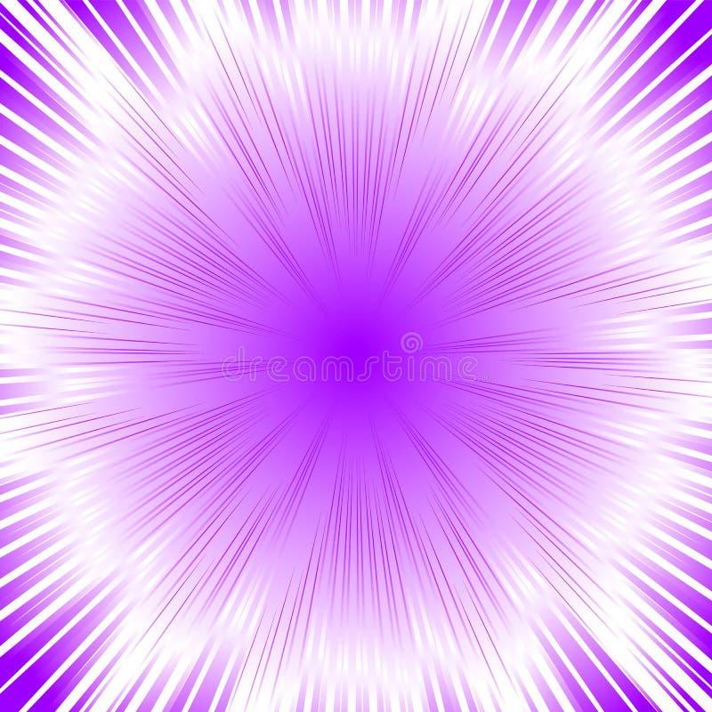 Abstracte cirkel geometrische achtergrond Cirkel geometrisch centric motiepatroon Starburst dynamische lijnen of stralen vector illustratie