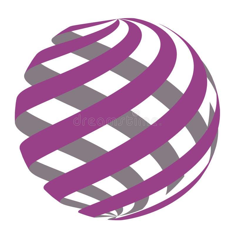 Abstracte Cirkel Logo Design Vector stock afbeeldingen
