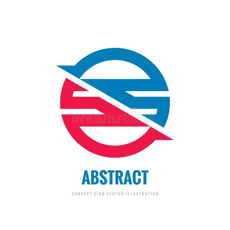 Abstracte cirkel met ontwerpelementen - de vectorillustratie concepten van het bedrijfsembleemmalplaatje Samenwerkings creatief t vector illustratie