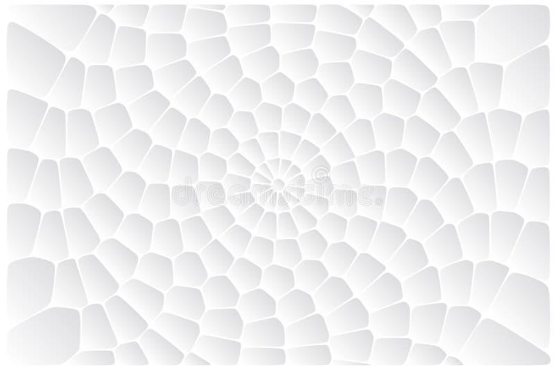 Abstracte cirkel witte achtergrond stock illustratie