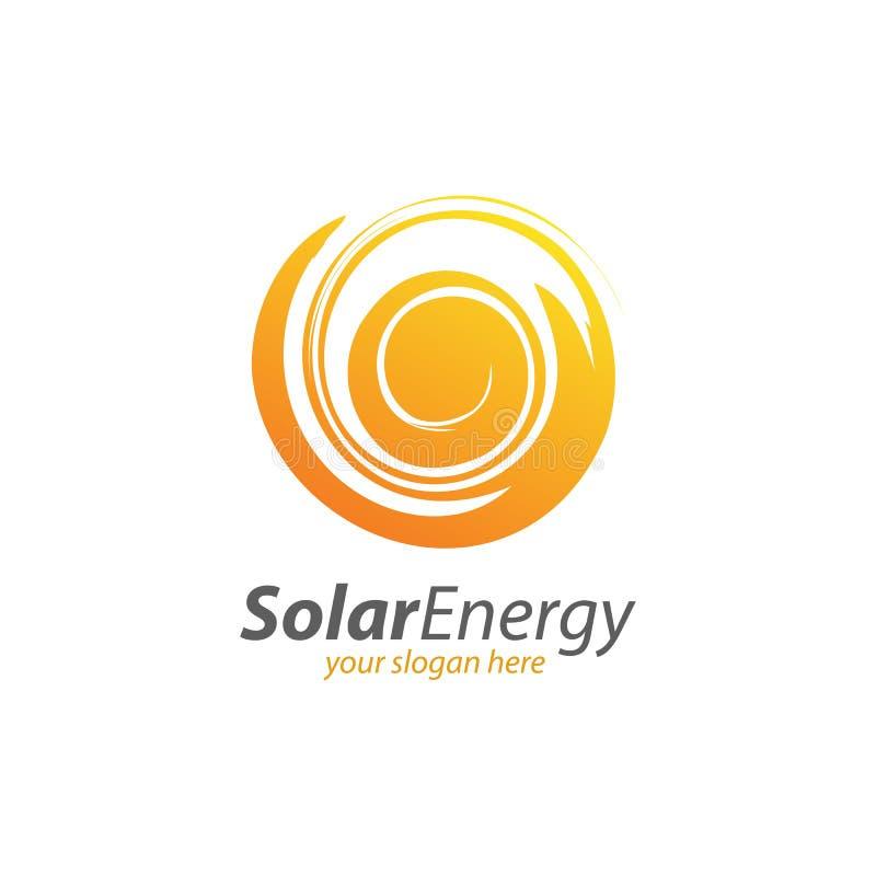 Abstracte Cirkel Zonne-energie en Vernieuwbaar Technologieembleem vector illustratie
