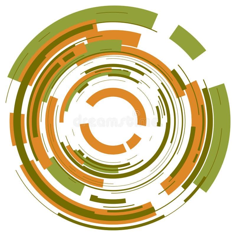 Abstracte cirkelachtergrond stock illustratie