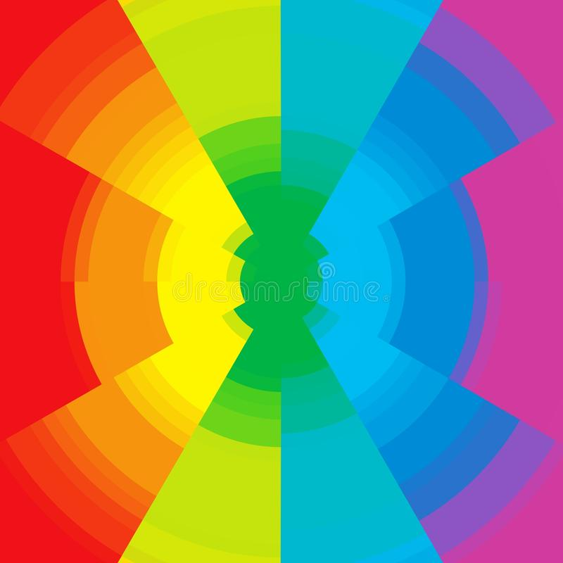 Abstracte cirkelachtergrond in diverse tinten vector illustratie