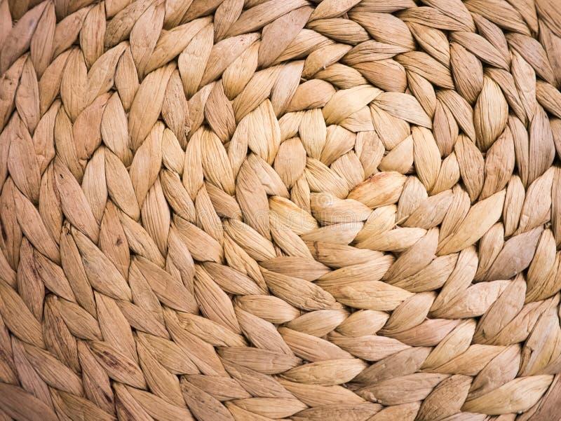 Abstracte cirkelachtergrond van het weefsel van de waterhyacint royalty-vrije stock afbeelding