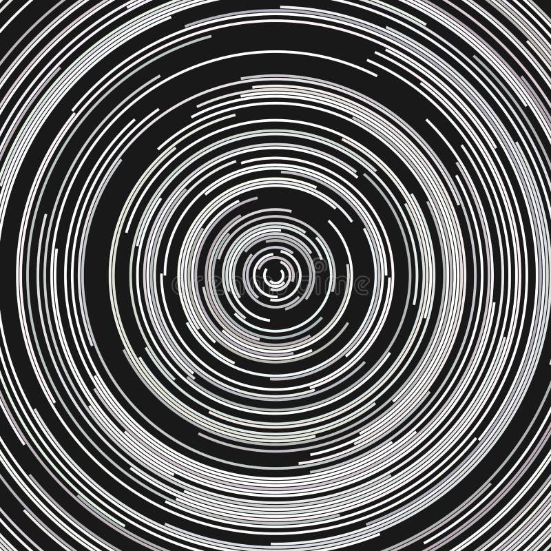 Abstracte cirkelachtergrond - vectorafbeeldingen van halve cirkels stock illustratie