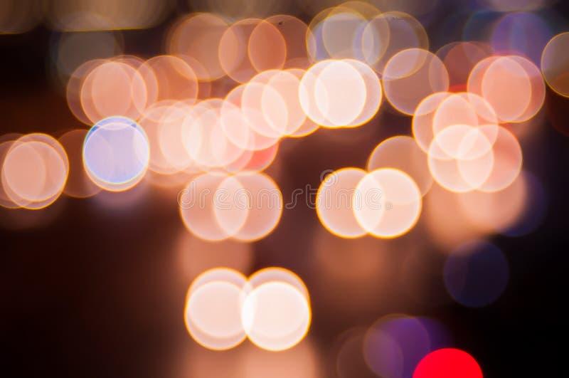Abstracte cirkelbokehachtergrond stock foto's