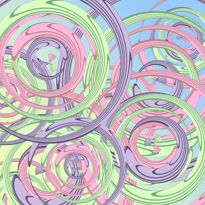Abstracte cirkels van alle kleuren voor jonge geitjes, de cirkels van het illustratiebeeld voor uw ontwerp of drukplaats royalty-vrije illustratie