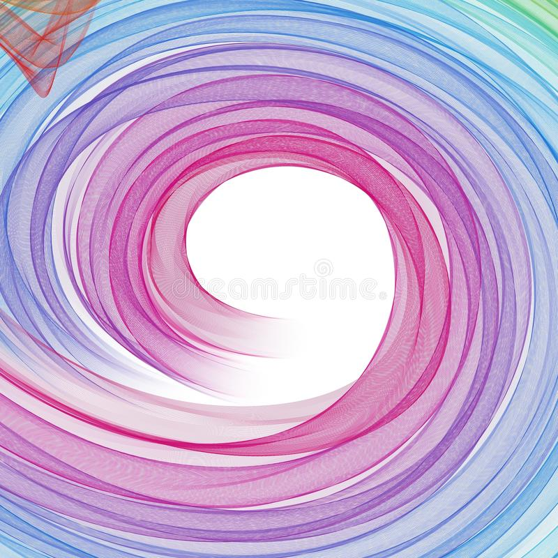 Abstracte cirkelsamenstelling stock illustratie