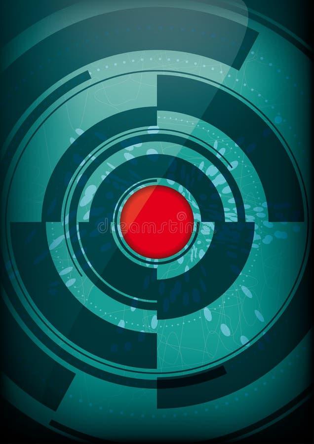 Abstracte cirkelsamenstelling Affiche met plaats voor tekst royalty-vrije illustratie