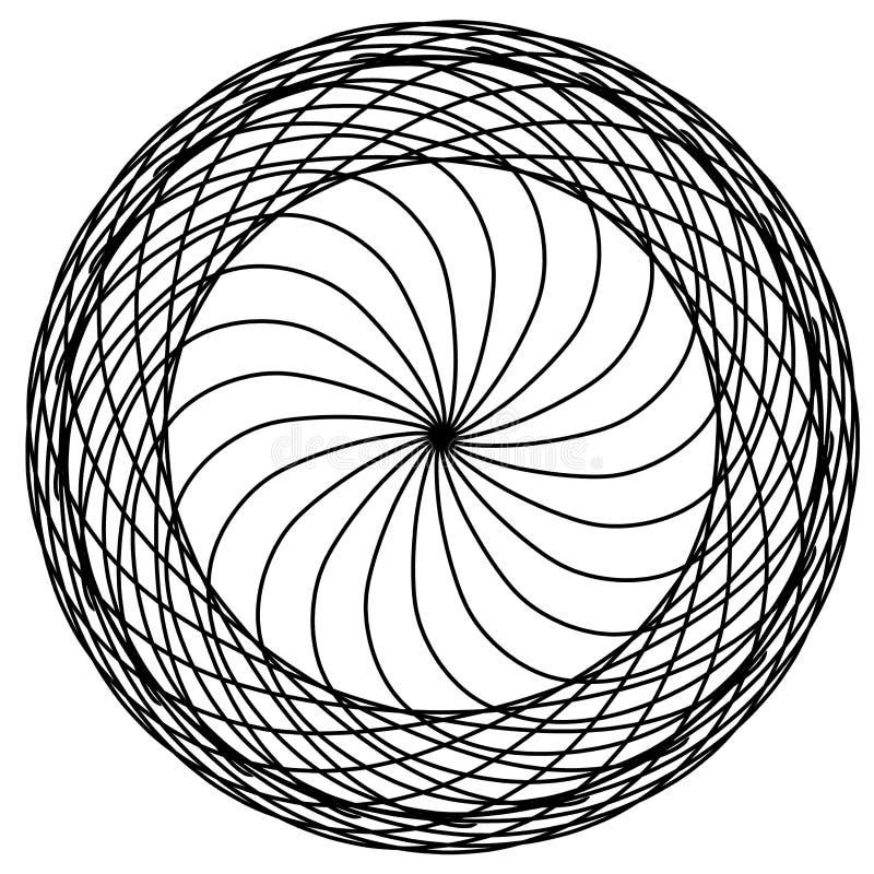 Abstracte cirkelselementen Dreamcatcher Astrologie, spiritualiteit, magisch symbool Etnisch stammenelement stock illustratie