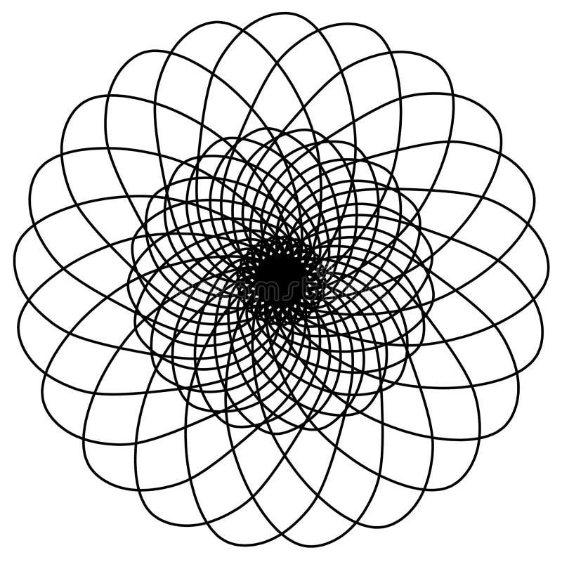 Abstracte cirkelselementen Dreamcatcher Astrologie, spiritualiteit, magisch symbool Etnisch stammenelement vector illustratie