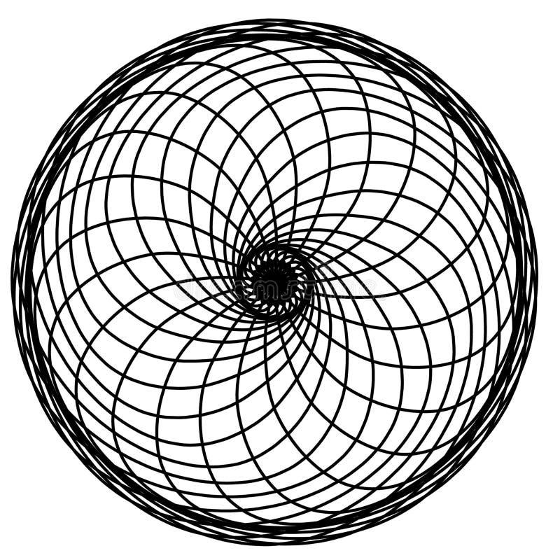 Abstracte cirkelselementen Dreamcatcher Astrologie, spiritualiteit, magisch symbool Etnisch stammenelement royalty-vrije illustratie