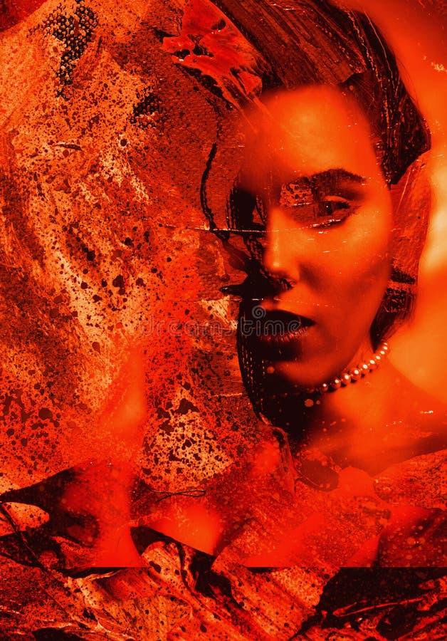 Abstracte Collage vector illustratie