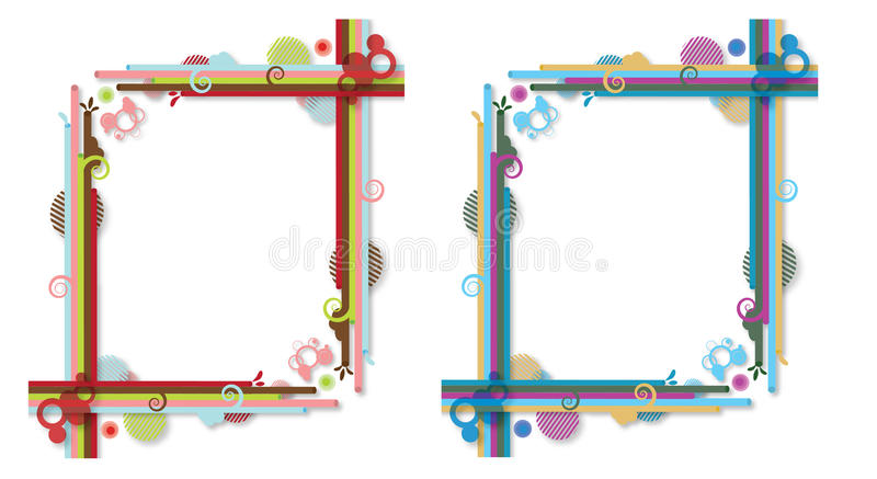 Abstracte colorfully frames royalty-vrije illustratie