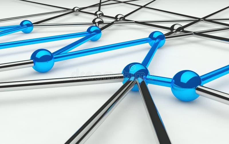 Abstracte conceptie van netwerk en mededeling vector illustratie
