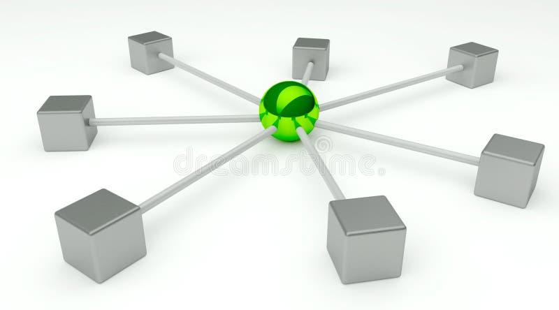 Abstracte conceptie van netwerk en mededeling royalty-vrije illustratie