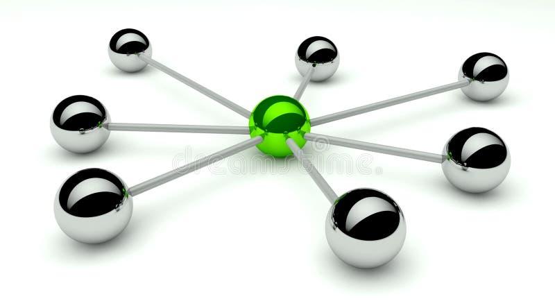 Abstracte conceptie van netwerk en mededeling stock illustratie