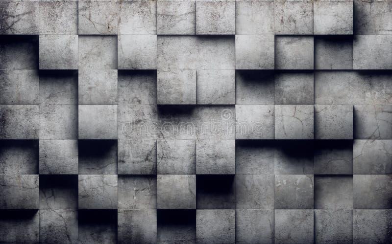 Abstracte concrete muur royalty-vrije illustratie