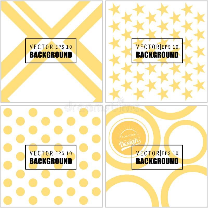 Abstracte Creatieve concepten vector multicolored vage reeks als achtergrond Voor Web en Mobiele Toepassingen, kunstillustratie royalty-vrije illustratie