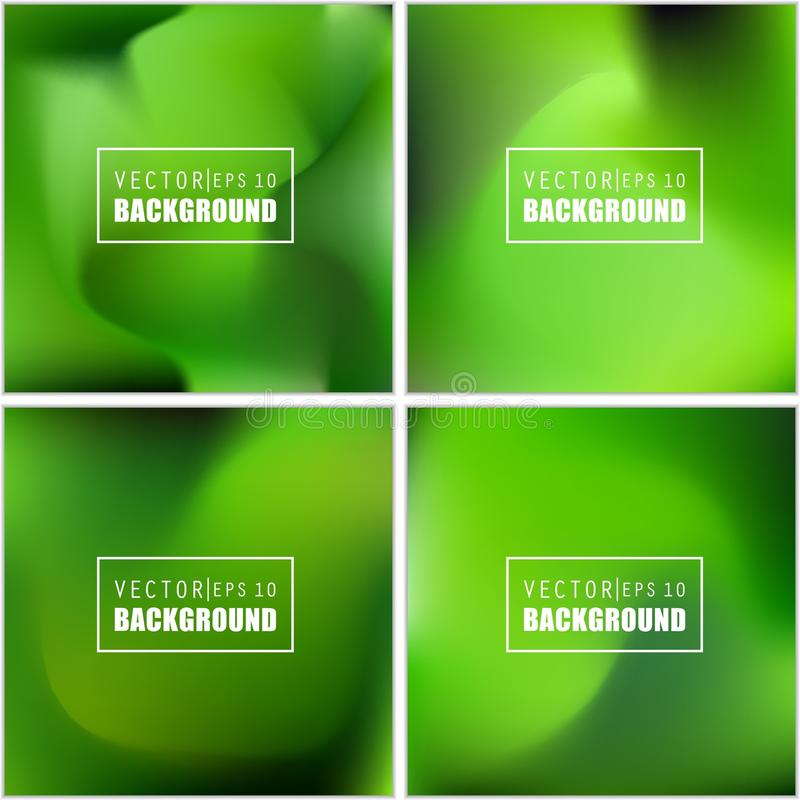Abstracte Creatieve concepten vector multicolored vage reeks als achtergrond Voor Web en Mobiele Toepassingen, kunstillustratie vector illustratie