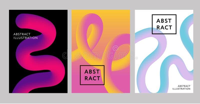 Abstracte Creatieve de vorm Vloeibare Vector 2019 van de ontwerp 3d stroom stock illustratie