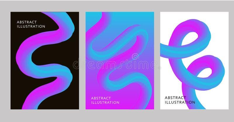 Abstracte Creatieve de vorm Vloeibare Vector 2019 van de ontwerp 3d stroom royalty-vrije illustratie