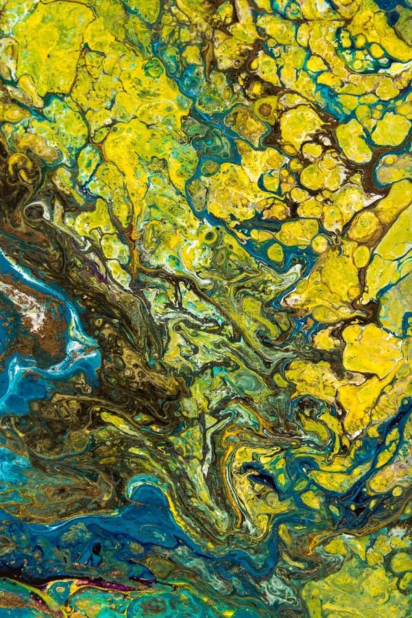 Abstracte creatieve geschilderde achtergrond met acrylverven stock afbeelding
