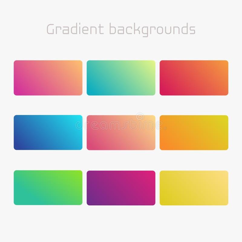 Abstracte creatieve multicolored reeks als achtergrond Voor Web en Mobiele Toepassingen Vector moderne gradiëntelementen vector illustratie