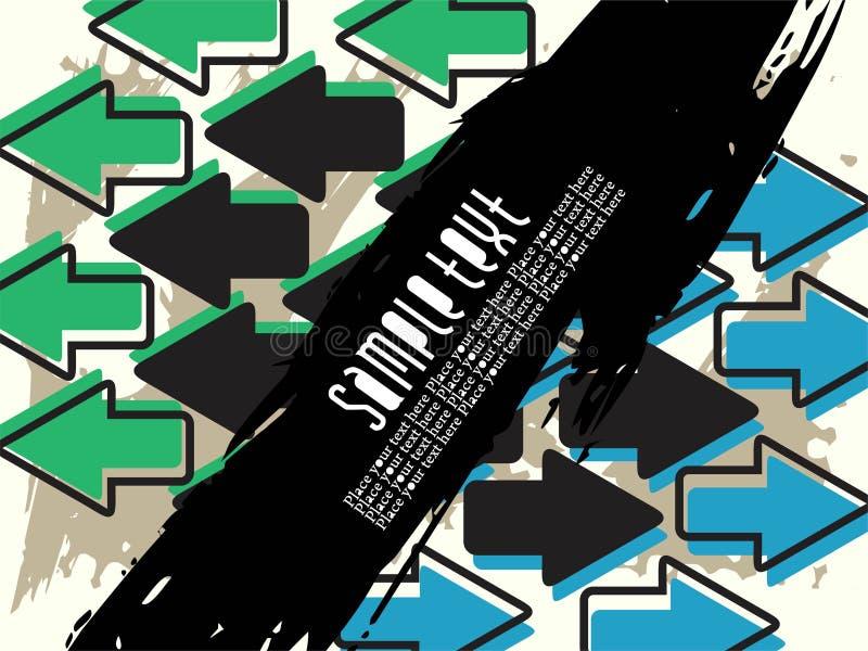 Abstracte creatieve pijlachtergrond met grunge vector illustratie