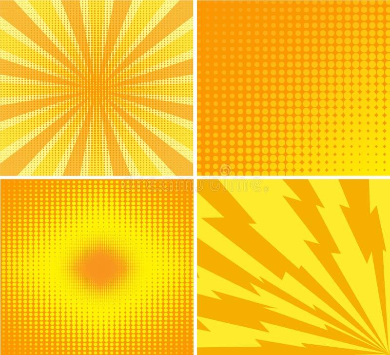 Abstracte creatieve van de het pop-artstijl van de concepten vectorstrippagina lege layo royalty-vrije illustratie