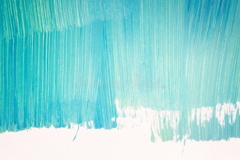 Abstracte cyaanhand geschilderde achtergrond vector illustratie