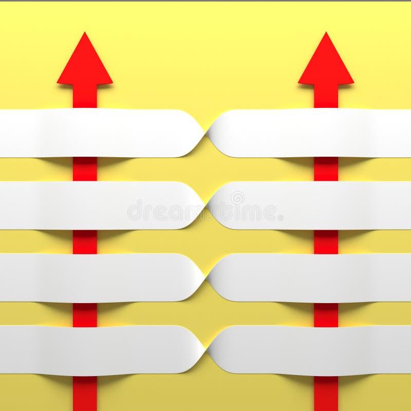 Abstracte 3D Achtergrond. stock illustratie