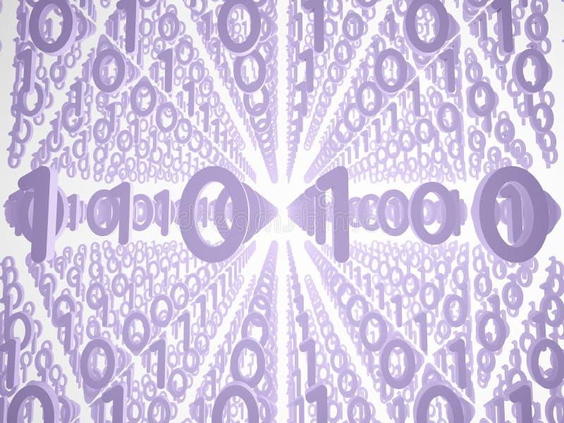 Abstracte 3d achtergrond, structuur met nummer 0 en 1 vector illustratie