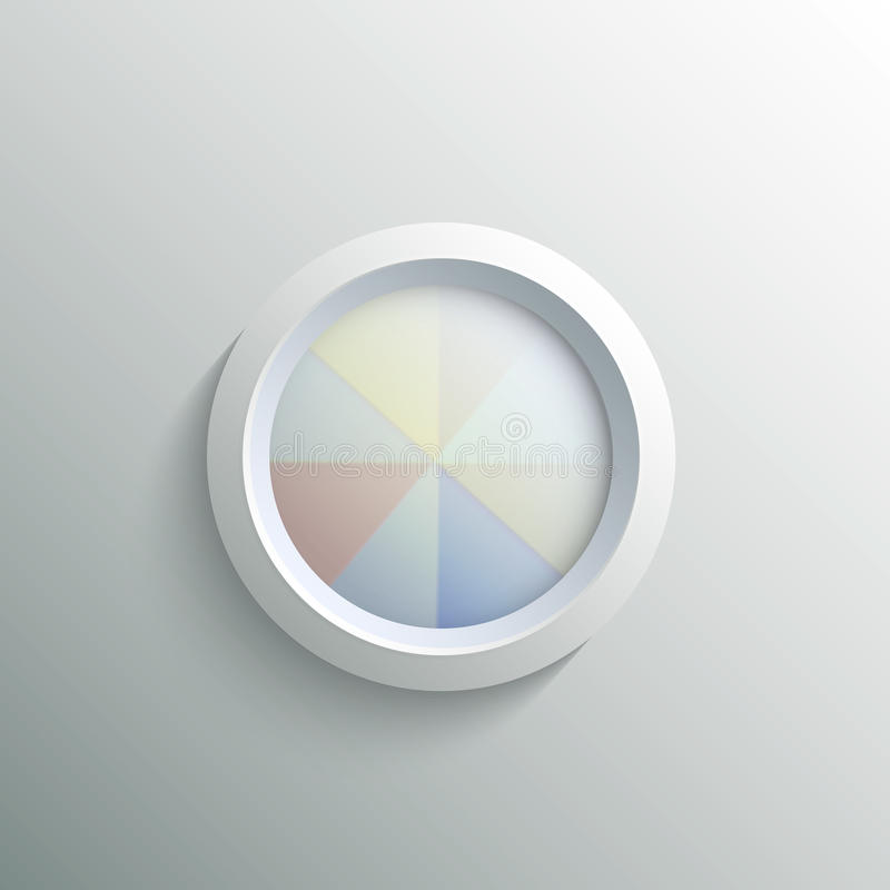 Abstracte 3d cirkel vector illustratie