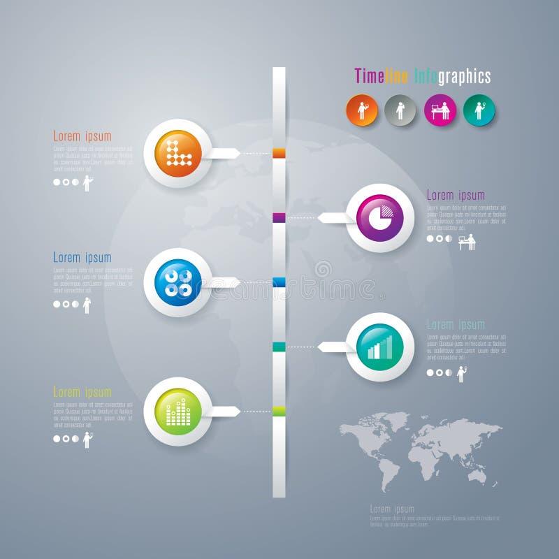 Abstracte 3D digitale illustratie Infographic. royalty-vrije illustratie