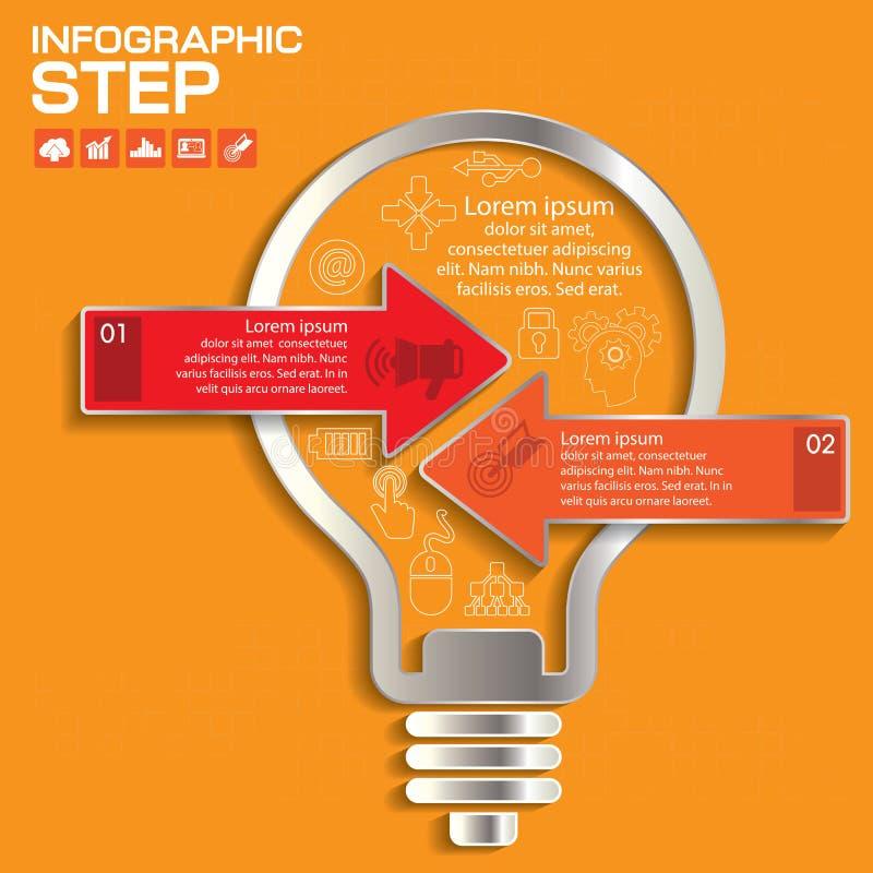 Abstracte 3D digitale illustratie Infographic met pijl royalty-vrije illustratie