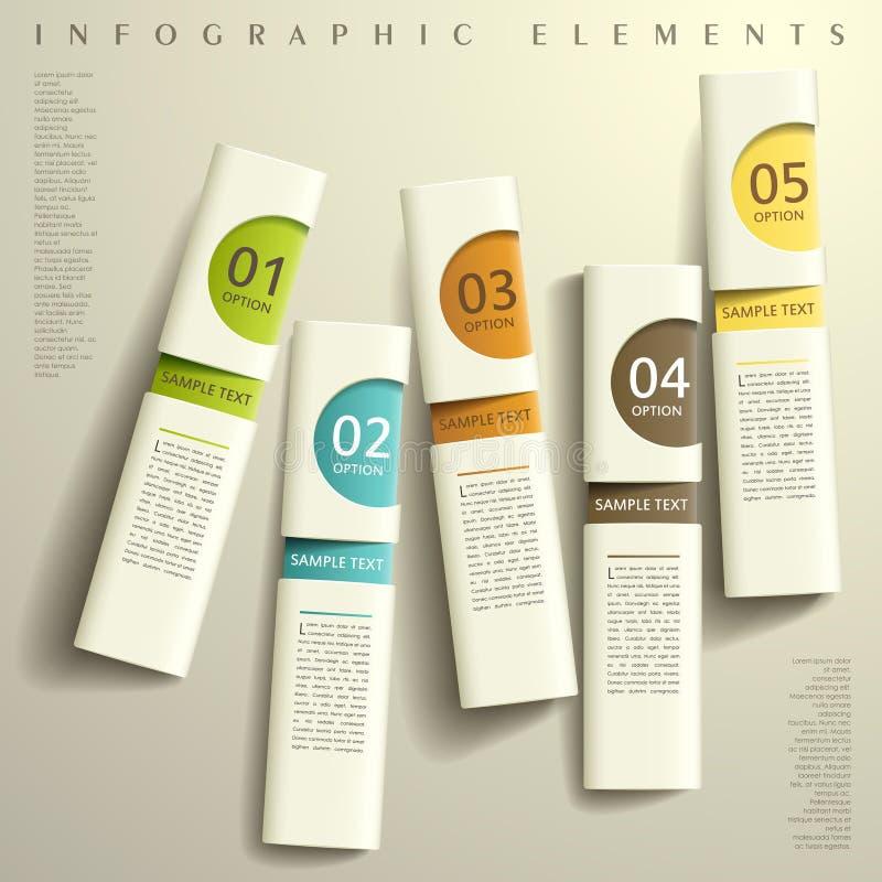 Abstracte 3d document infographics royalty-vrije illustratie