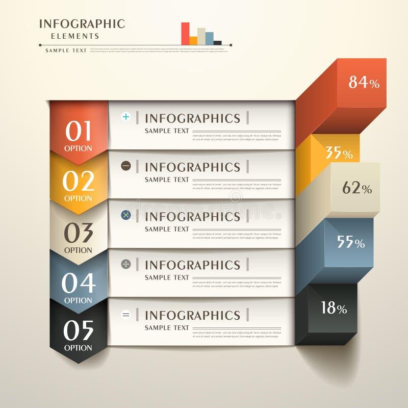 Abstracte 3d document infographics stock illustratie