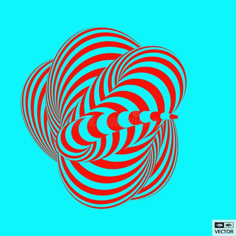 Abstracte 3d geometrische achtergrond Patroon met Optische Illusio vector illustratie