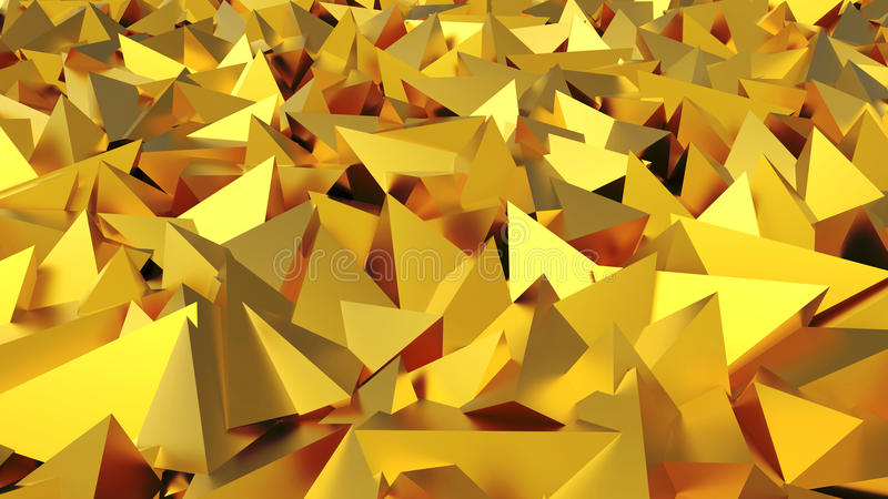 Abstracte 3D gouden piramides vector illustratie