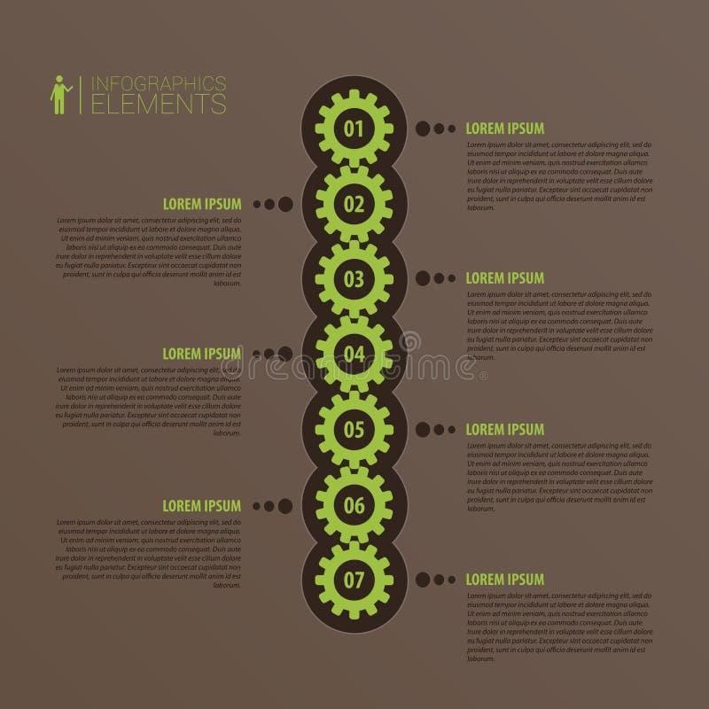 Abstracte 3D infographic vector Bedrijfsmalplaatje met toestel royalty-vrije illustratie