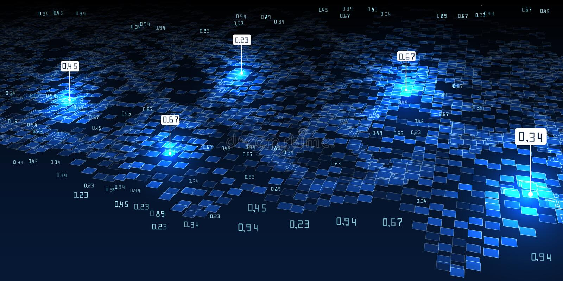 Abstracte 3D infographicsachtergrond Grote Gegevens Futuristische concep stock illustratie