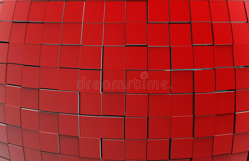 Abstracte 3d kubussenachtergrond royalty-vrije illustratie