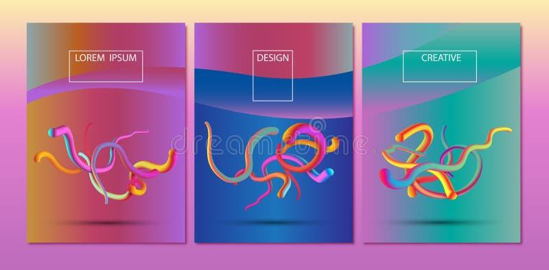 Abstracte 3d multicolored vorm vector illustratie
