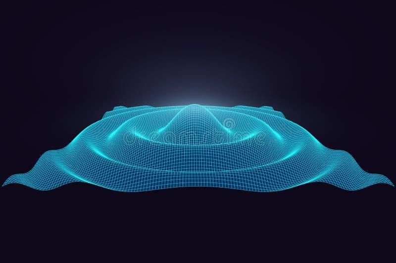 Abstracte 3d oppervlakte vectorillustratie voor ontwerp vector illustratie
