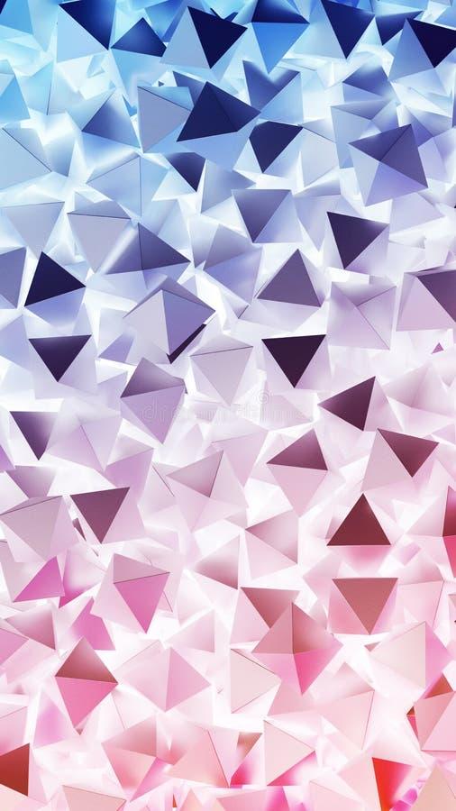 Abstracte 3D piramides Illustratie abstracte achtergrond royalty-vrije illustratie