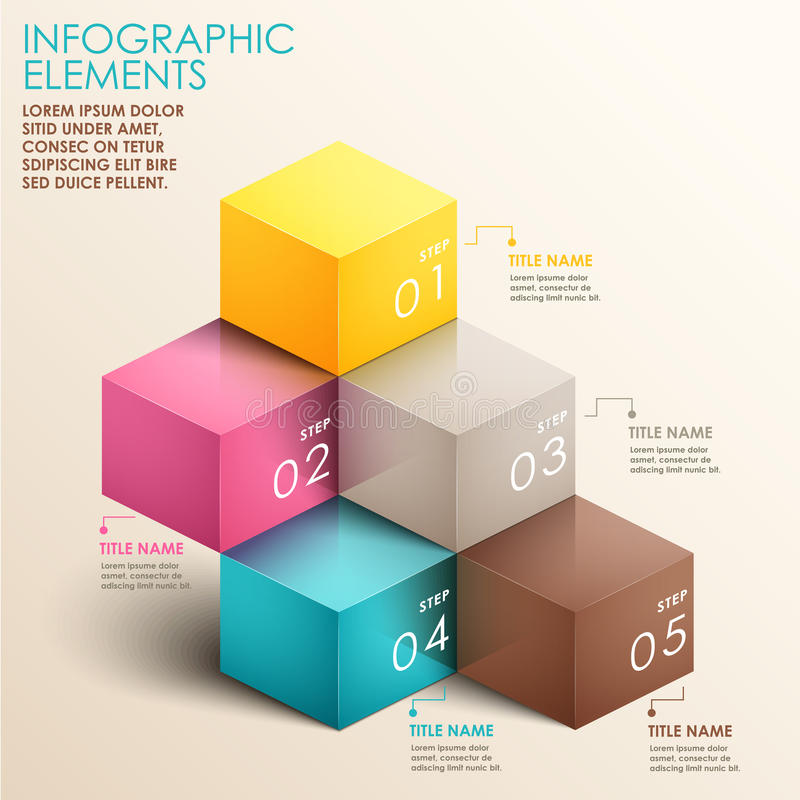 Abstracte 3d trapinfographics royalty-vrije illustratie