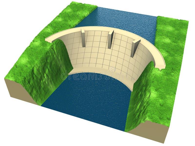 Abstracte dam stock illustratie